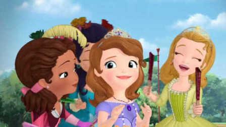 小公主苏菲亚国语版小公主苏菲亚动画片 小公主苏菲亚之学画简单的彩妆