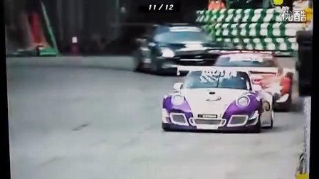 澳门格兰披治赛车经典四车缠斗