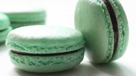 【喵博搬运】【食用系列】薄荷绿巧克力夹心马卡龙ヽ(*。>Д<)o゜