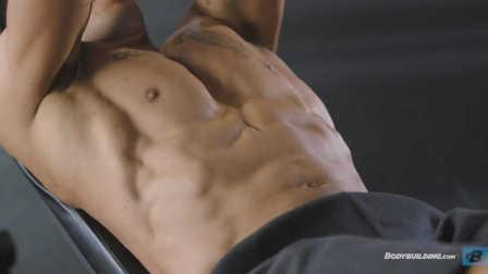 Bodybuilding运动员史蒂夫·韦瑟福德的极速泵感训练