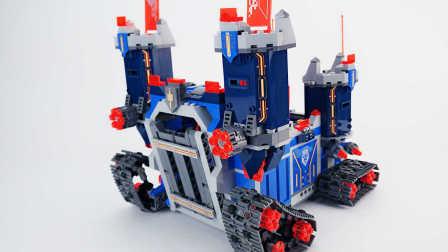 【月光砖厂】LEGO NEXO70317乐高未来骑士团移动城堡乐高速组评测