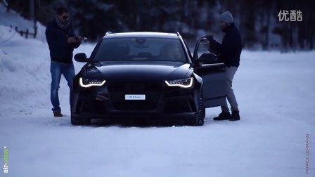 奥迪 RS6雪地漂移