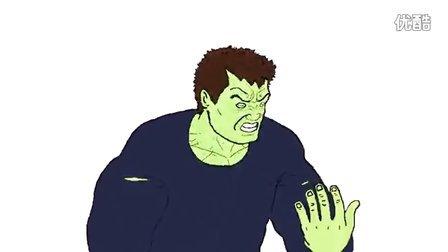 浩克(绿巨人)变身小动画