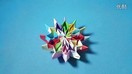 折纸王子大全 中级折纸 折纸王子教你炫彩烟花(一)