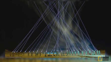 H40.英国军队夜间演习照明弹齐射如星球大战