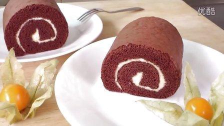 DIY美食:巧克力瑞士蛋糕卷