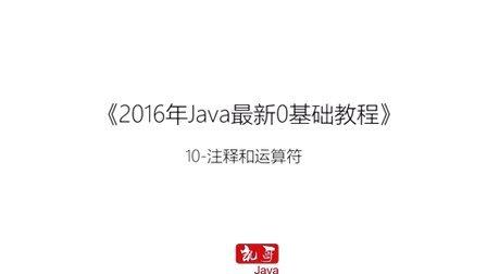 Java语言从入门到精通学习教程第十节-Java注释和运算符