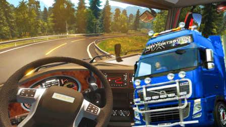 【屌德斯解说】 模拟卡车驾驶 第一次送货居然从法国开到英国,简直神奇