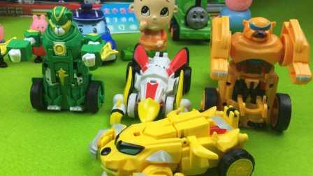 宣宇爱玩亲子游戏 2016 猪猪侠之五灵守卫者 变形玩具