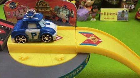 韩国变形警车珀利 超可爱 ROBOCAR POLI主题消防站场景停车场 轨道玩具 定格动画