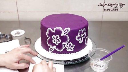 DIY美食:生日蛋糕上绣花