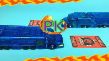 【魔力玩具秀】蓝域界钢铁巨神PK猩红渊狮鹫巨神 魔幻车神精彩对决展示赛 (5) 自动变形玩具车机器人爆裂飞车第二三季新款魔幻车神