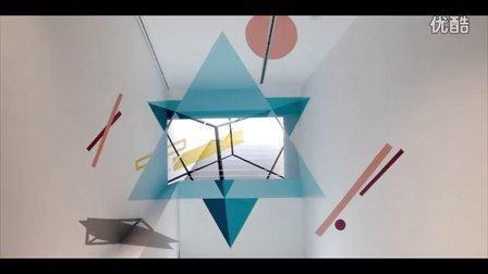 意大利墙绘工作室立体空间内打造抽象壁画·对称篇