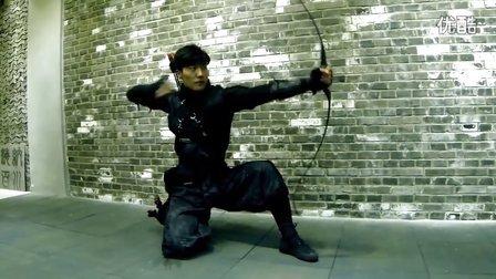 赵靖舒玉传统弓箭与跑酷的完美结合——忍者