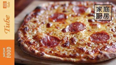 yanyanfoodtube 2016 萨拉米薄底披萨 33