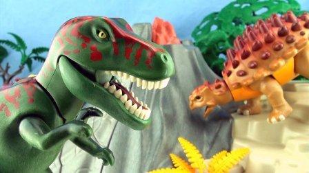 (ᵔᴥᵔ) 德国Playmobil益智玩具 恐龙,火山 - Dinosuaurs with Volcano - PLAYMOBIL from Germany!