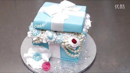 DIY美食:钻石珍珠,高大上的创意,礼品盒生日蛋糕