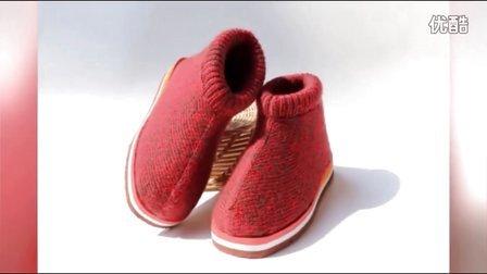 雅馨绣坊编织视频第34集高帮纯色棉鞋的具体织法详细步骤图解视频