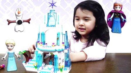 艾莎乐高冰雪城!魔法楼梯快显身【中国爸爸】日本玩具