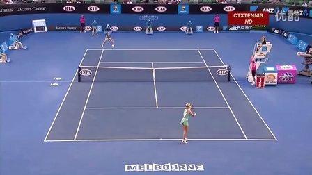 2010澳大利亚网球公开赛女单R2 海宁VS德门蒂耶娃 (自制HL)