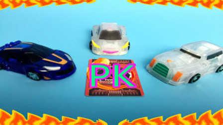 【魔力玩具学校】威甲车神PK勇武猛犸(为了飞翼天马)第一二三季新款魔幻车神精彩对决赛(9)自动变形玩具车机器人爆裂飞车