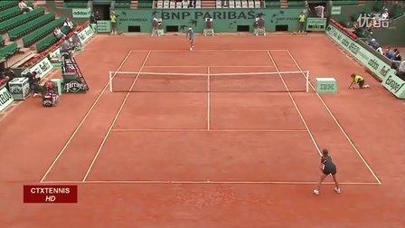 2009法国网球公开赛女单R3 伊万诺维奇VS贝内索娃 (自制HL)