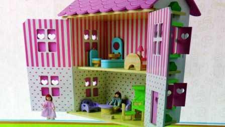 大型玫瑰房 娃娃屋 木制娃娃房 DIY房屋 过家家别墅玩具 - Wooden Doll House DIY!