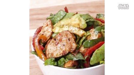 DIY美食:中西合璧之鸡肉蔬菜沙拉