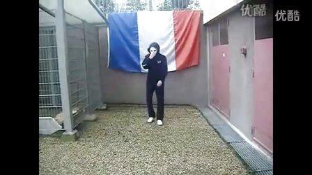 超清法国面具男鬼步舞学习教程慢动作
