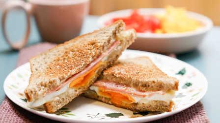 一分钟做出早餐三明治