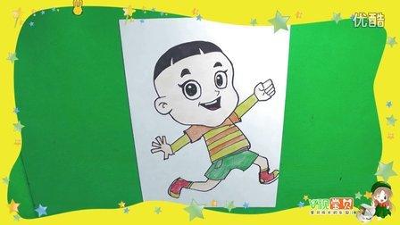 怎么画大头儿子 大头儿子和小头爸爸亲子简笔画儿童学画画
