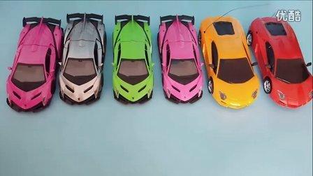 六款跑车集 法拉利兰博基尼阿斯顿马丁跑车汽车总动员 智能遥控拉风炫酷玩具车