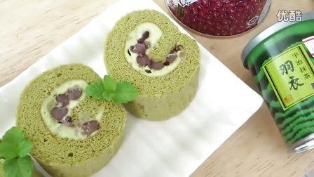 DIY美食:吃货怎能错过的点心,瑞士抹茶蛋糕卷