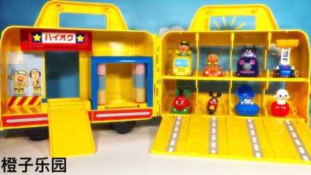 橙子乐园在日本 2016 小猪佩奇面包超人玩具之炫酷洗车库 炫酷洗车库玩具