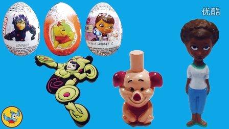 奇趣蛋玩具视频-超能陆战队,小医生大玩偶,小熊维尼(熊出没,海绵宝宝,粉红猪小妹