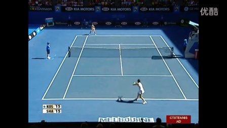 2008澳大利亚网球公开赛女单R1 莎拉波娃VS科斯坦尼奇 (自制HL)