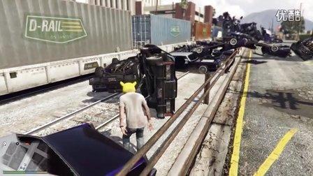 独醉:GTA5 火车撞汽车 标致208 T16