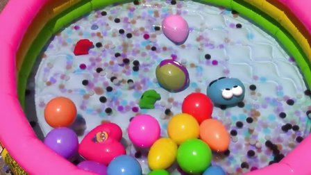 小泳池大惊喜 好多奇趣蛋惊喜蛋 认颜色学英文