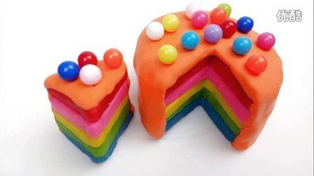 白雪玩具屋 2016 彩色糖果分层彩虹蛋糕 彩色糖果分层彩虹蛋糕