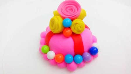 白雪玩具屋 2016 彩色花朵糖果蛋糕