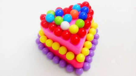 白雪玩具屋 2016 彩色糖果两层心形蛋糕 彩色糖果两层心形蛋糕
