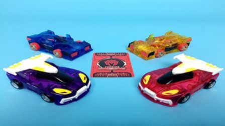 【魔力玩具学校】裂空飞鹰PK暗夜僵尸 魔幻车神自动变形玩具机器人爆裂飞车列车兽魂
