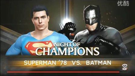 WWE战神高博秒兰迪&AJ对阵大布&卡里抱摔BIGshow