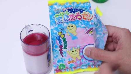日本食玩 变身泡沫布丁 神奇布丁制作 好吃的