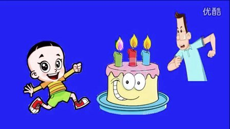 大头儿子小头爸爸亲子故事★生日蛋糕上的DIY水果制作