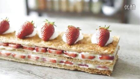 【喵博搬运】【食用系列】草莓拿破仑千层ヾ(^▽^*)))