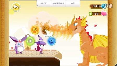 宝宝巴士 小游戏第十二期:小魔女大冒险 第三关,坐过山车,斗恶龙,斩树妖