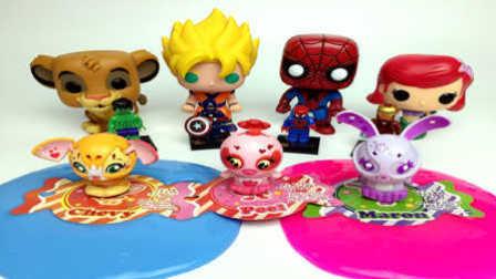 【魔力玩具学校】水晶液体彩泥黏土奇趣蛋狮子王人鱼公主蜘蛛侠变形小可爱小玩具