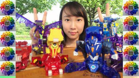 【魔力玩具学校】5月魔幻车神抽奖首尔木洞公园魔幻车神对决 自动变形玩具车机器人爆裂飞车