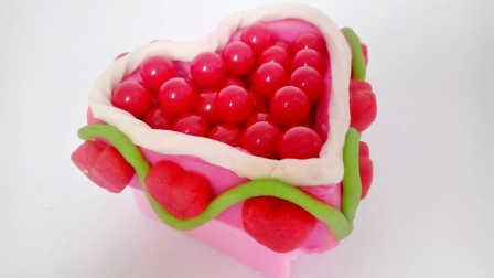 白雪玩具屋 2016 彩色糖果心形蛋糕 彩色糖果心形蛋糕